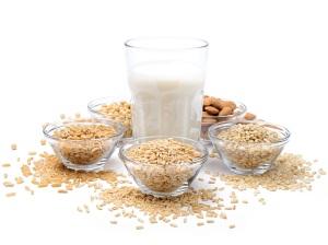 Latte vegetale, ingredienti: avena, riso, mandorle, soia, grano
